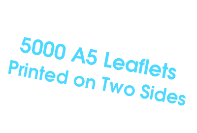 5000 A5 Leaflets Two side print